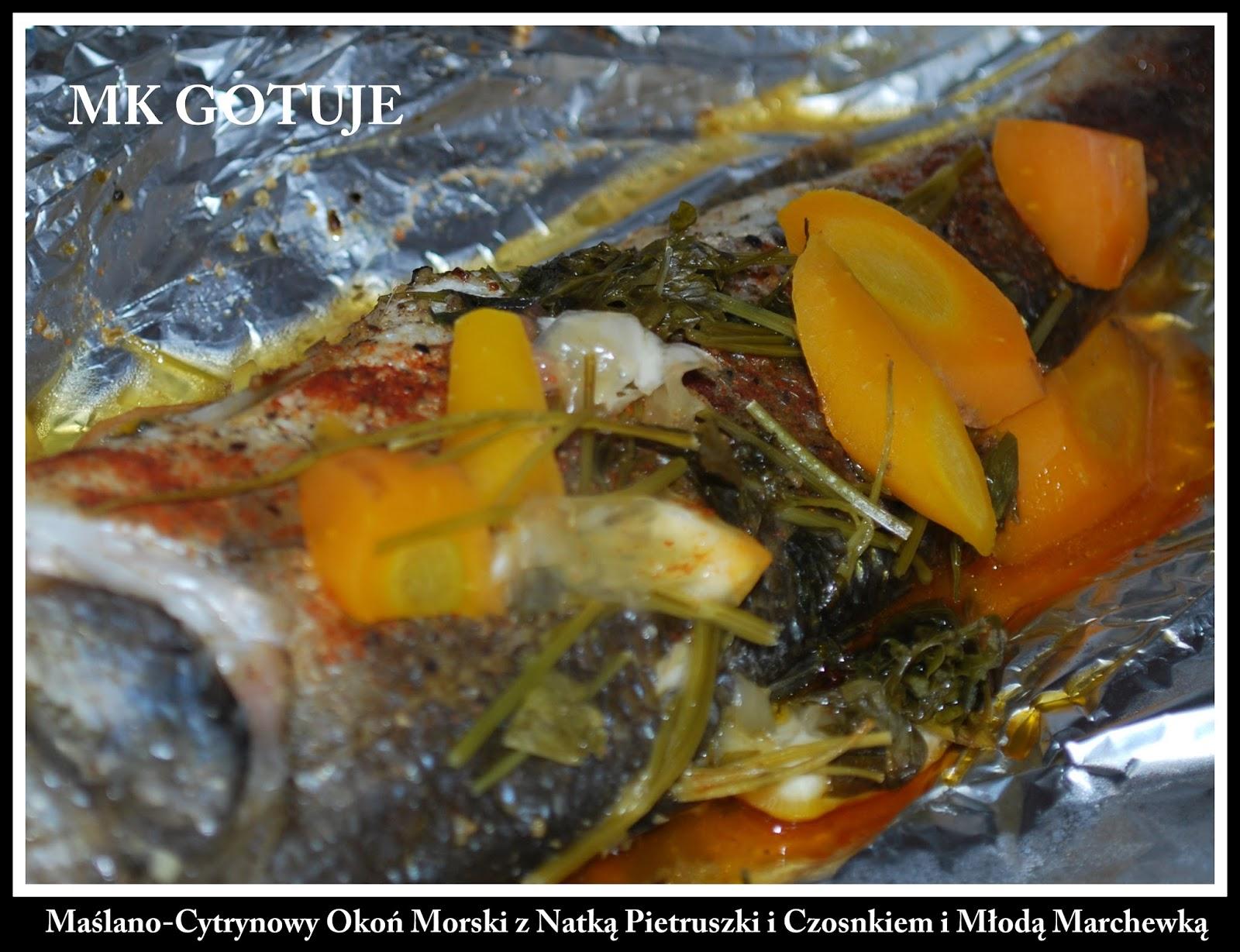 maslano-cytrynowy-okon-morski-z-natka-pietruszki-i-czosnkiem-i-mloda-marchewka