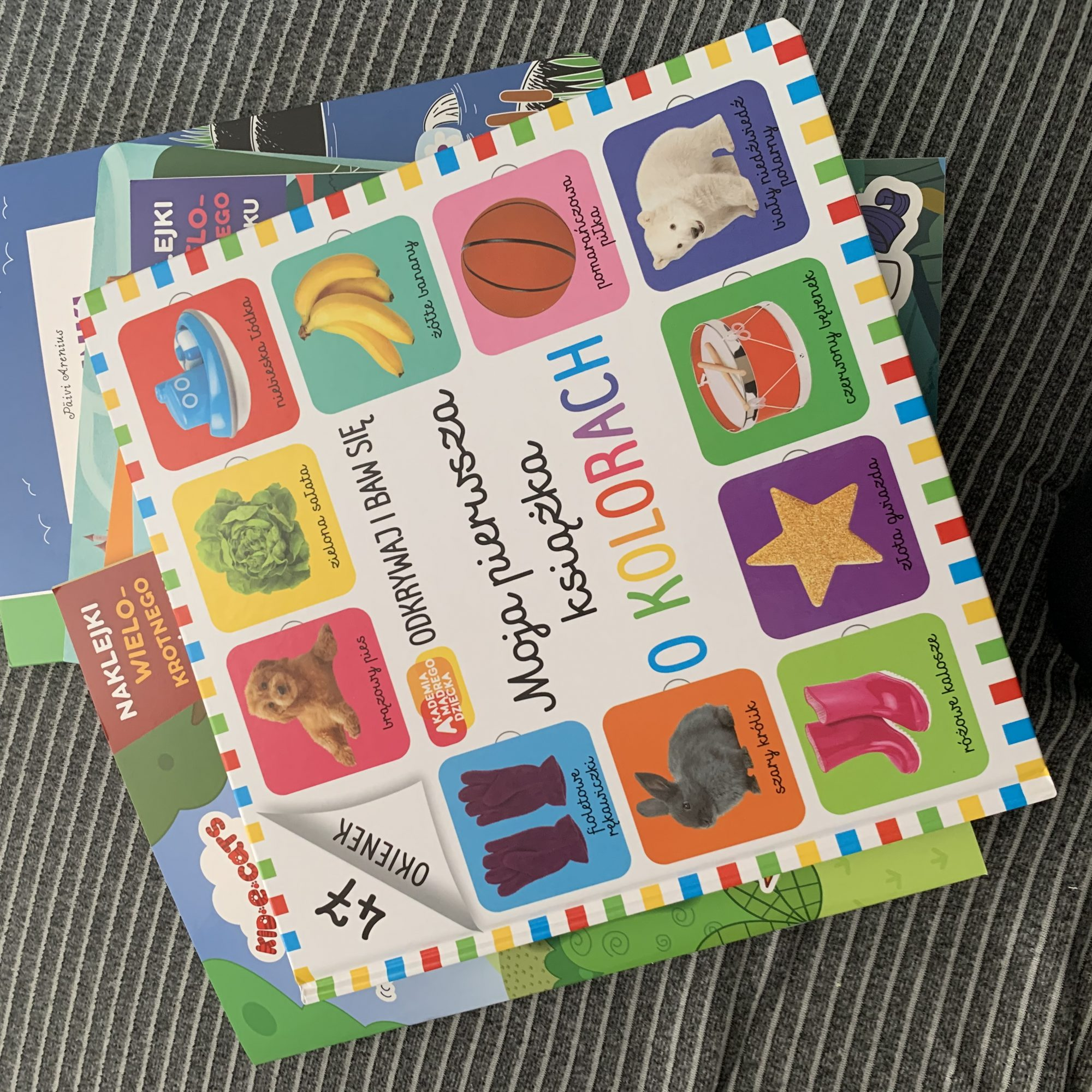 Moja pierwsza książka o kolorach. Akademia mądrego dziecka. Odkrywaj i baw się