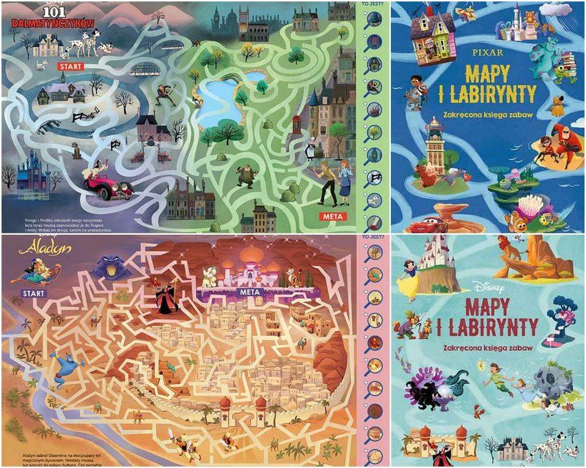 Mapy i labirynty. Zakręcona księga zabaw